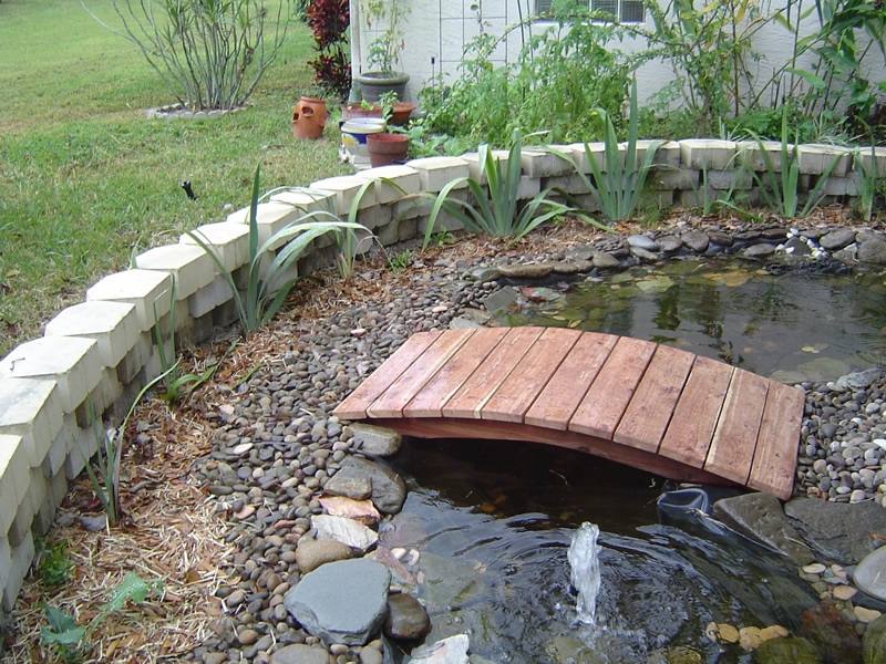 Pond Bridges And Cusom Built Koi, Diy Garden Pond Bridge