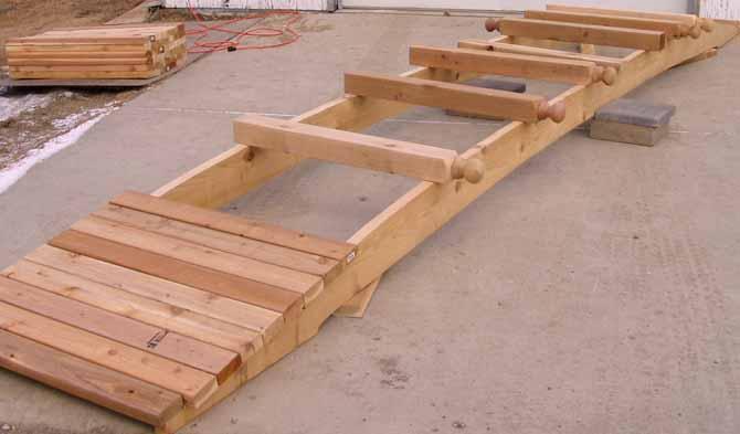 How To Build A Footbridge Part 1, Garden Bridges Plans